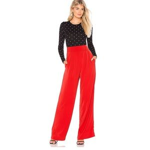 Capulet Wide Leg Cherry Red Pants